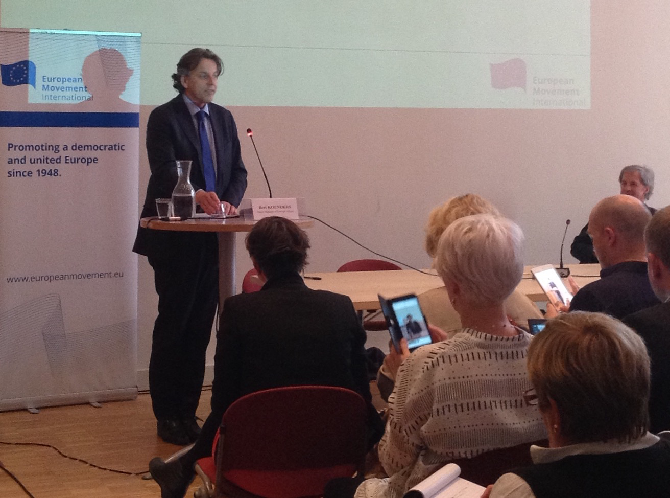 Minister Bert Koenders urges EMI to step up to help to meet the fundamental European reform challenges